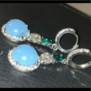 Opal cocktail earrings